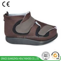 Breathable fabric post-trauma shoes flat post-op shoes cast shoes,diabetic shoes with rocker outsole