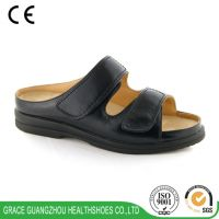 9811073 women black wide diabetic therapeutic leather shoes