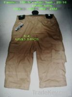 Baby boy's cargo short pant
