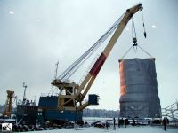 100 TON MARINE  - PROPELLED FLOATING CRANE