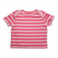 Pink Stripes Organic Baby Tee