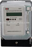 Single phase prepayment static watthour meter