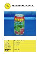 Malapine Fruit Juice
