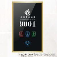 Hotel doorbell display panel