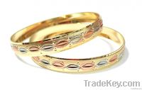 Diamond Cut Gold Plated Bangles