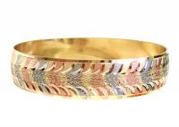3 Tone Plated | Diamond Cut Bangles