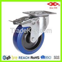 200mm Swivel brake elastic rubber caster wheel