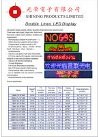 Double Line Led Display
