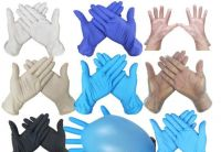 $ 0.1 Disposable nitrile Gloves Protective anti virus Gloves Universal Household Garden Cleaning Gloves