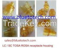 Fiber optic LC SC TOSA /ROSA receptacle housing