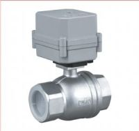 China Bigger size above 25mm capacitor return motorized ball valves