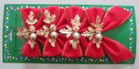 Christmas bowknot Canadian Decoration
