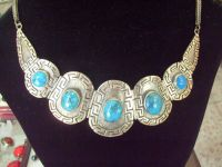 925 Silver necklace with turquoise stone