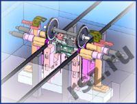 Underfloor wheel turning lathe