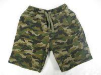 Camouflage printed fleece short
