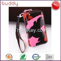 PU key ring wallet