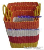 plastic rattan storage laundry