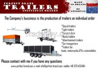 BIG CAR TRAILER Indyvidual customer orders GALVANIZED trailers