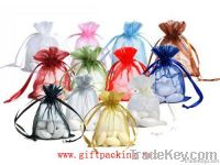 Organza Bags Small White with Print With You LOGO