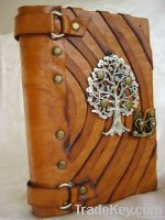 Handmade Leather Journal with Tree Of Life Emblem