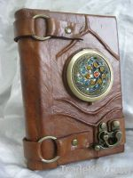 Handmade Leather Journal with Mirror