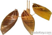 Rowing recreational canoe