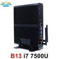 Partaker B13 Mini PC with 7th Gen Kaby Lake Intel Core i7 7500U Winows 10 Linux Ubuntu Barebone Fanless Mini PC 4K HTPC Computer