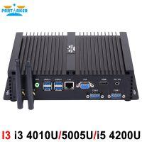 Partaker I3 Mini Computer Fanless Mini PC Windows 10 Core i3 4010U i3 5005U i5 4200U i7 5550U 2*RS232 industrial PC Rugged PC