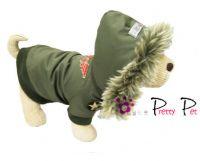 Pretty Pet Waterproof Hooded Army Green Coat