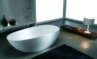 engineered stone bath