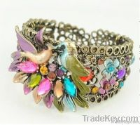 B1007 bollywood style  bangle with chinese crystalstone