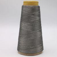 Grey Nm11/2plies 100% stainless steel staple fiber ring spun yarn for glass mould car metal fiber casing-XT11817