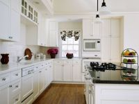 Birch solid wood white American  kitchen cabinets
