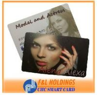 beautiful frosted PVC card