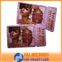 characteristic PVC irregular card