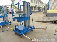 Aluminium single mast work lift platform: