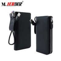 Professional supplier Rfid new smart wallet phone case power bank with card holder 20000mah