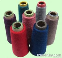 Polyester and linen blended yarn