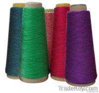Cotton nylon viscose rabbit hair blended yarn