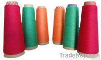 Cotton spun silk blended yarn