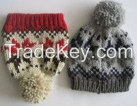 ACRYLIC/COTTON KNITTED HATS, FASHION HATS, BERETS