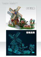3D DIY Windmill Grow in the dark Puzzle Jigsaw Toys