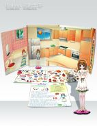 Magnetic Game Book Kitchen Bathroom
