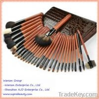 30 pieces natural hair professional natural hair makeup brush set