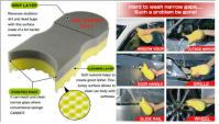 NanoSkin AutoScrub clay wash  sponge
