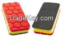 Dual use (clay side and sponge )Square clay pad Aplicator