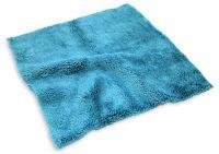 Ultrasonic cutting edge plush microfiber buffing towel