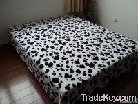 100% microfiber fleece blanket