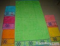 100% cotton jacquard velour beach towels