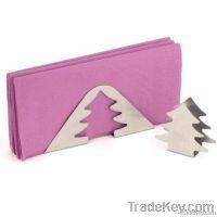 Small cute Christmas tree shape tinplate napkin holder